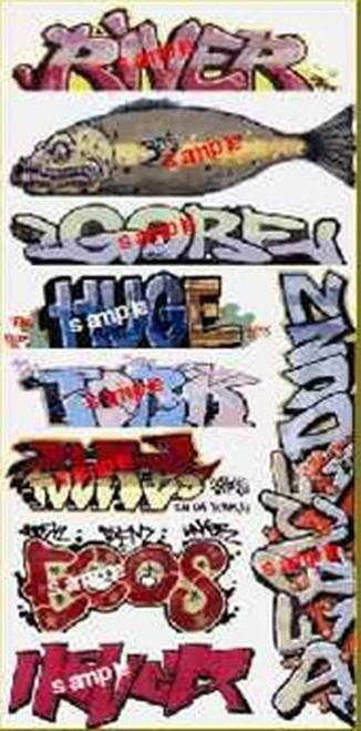 Blair Line N 1256 Graffiti Decals Mega Set #7