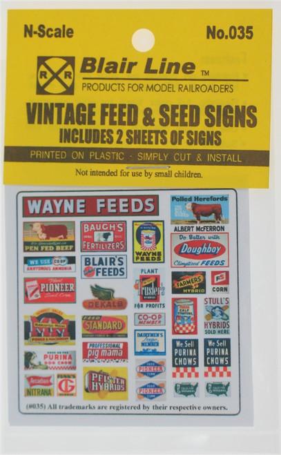 Blair Line N 035 Vintage Feed and Seed Signs