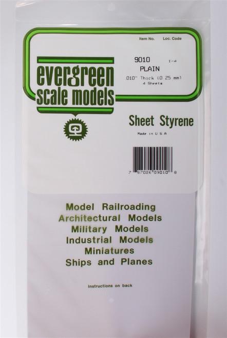 "Evergreen Scale Models 9010 6"" x 12"" Plain White Sheet .010"" (4)"