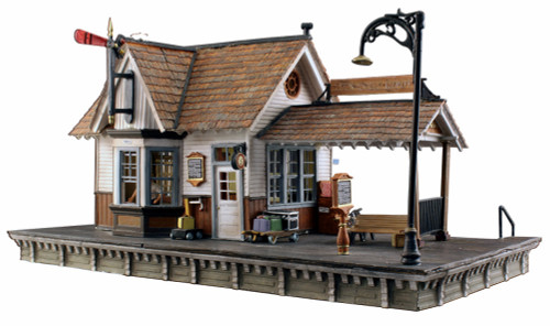 Woodland Scenics HO BR5052 Built and Ready The Depot (Lighted)