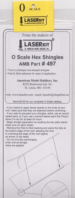 American Model Builders O 497 Hexagonal Shingle Strips