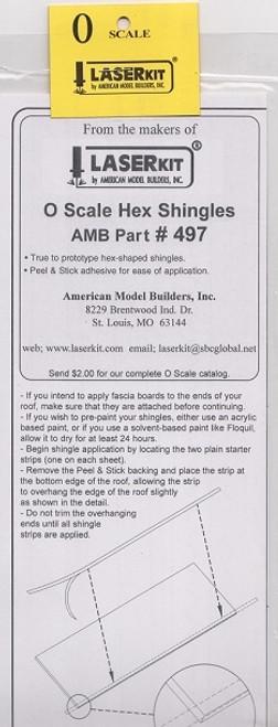 American Model Builders O 497 Hexagonal Shingle Strips