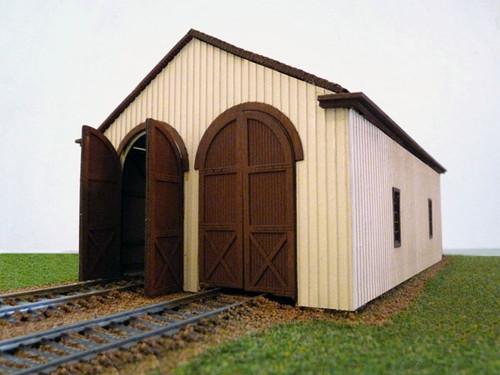 Branchline HO 657 Laser Art Structure Kit, Pennsylvania Railroad 2-Bay Engine House (d)
