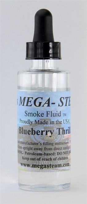 JT's Mega Steam O/HO BLUEBERRY Smoke Fluid 2 Oz. Bottle, Blueberry Thrill