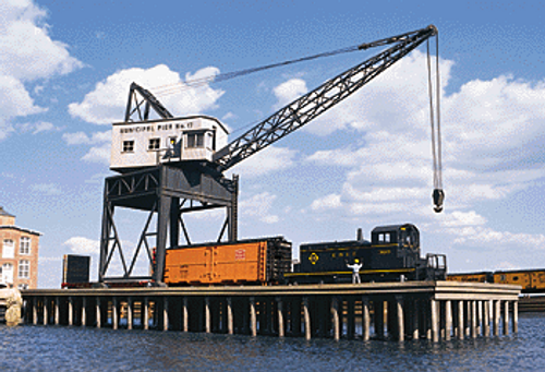 Walthers Cornerstone HO 933-3067 Pier and Traveling Crane Kit