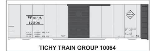 Tichy Train Group N 10064 Western Railyard of Alabama Decal Set for 40' Steel Box Car (d)