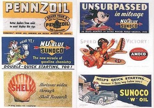 JL Innovative Design HO 164 1940s Gas Station/Oil Billboard Signs (6)