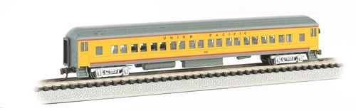 Bachmann N 13755 72' Heavyweight Coach with LED Lighted Interior, Union Pacific #1115