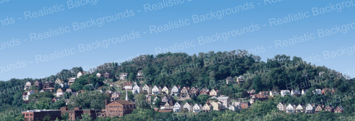 "Realistic Backgrounds 704-11 Small Town Scene 13"" x 38"""