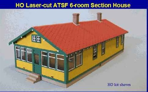 Blair Line HO 194 ATSF 6-Room Section House Kit