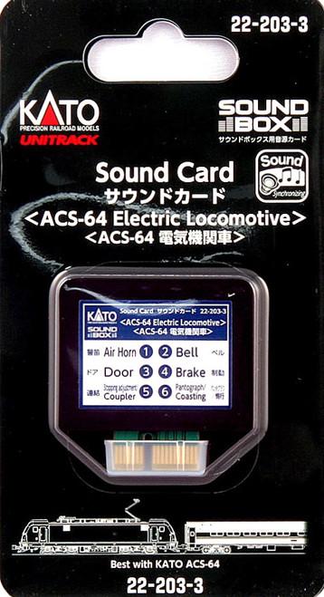 Kato HO/N 22203-3 Sound Card, ACS-64 Electric Locomotive