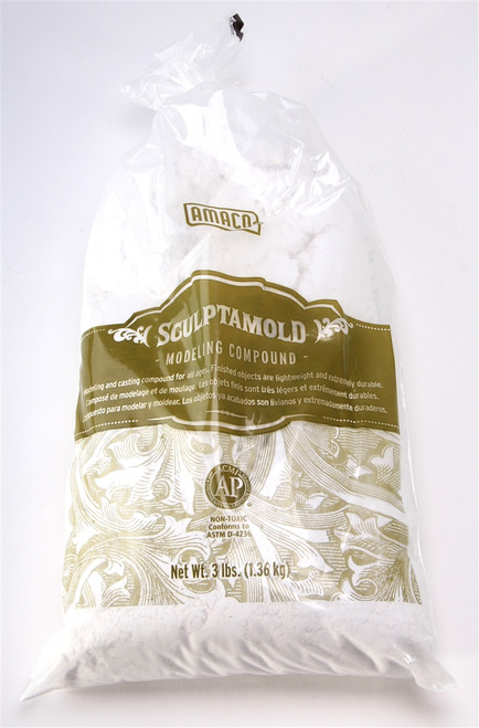 American Art Clay Company 41821C SC3 Sculptamold, Material for Modeling and Casting (3lb Bag)