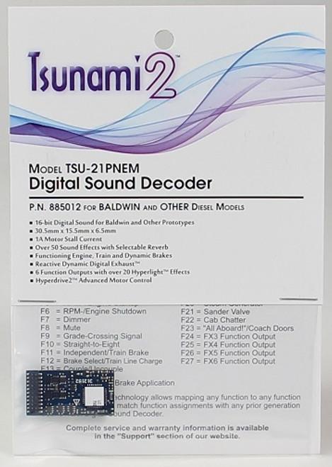 SoundTraxx 885011 TSU-21PNEM Digital Sound & Control Decoder
