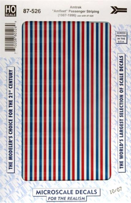 """Microscale HO 87-0526 Amtrak """"Amfleet"""" Passenger Striping (1987-1996)"""