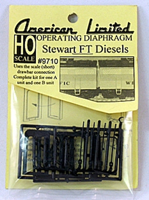 """American Limited HO 9710 Stewart """"FT"""" Diesel Operating Diaphragms, Black"""