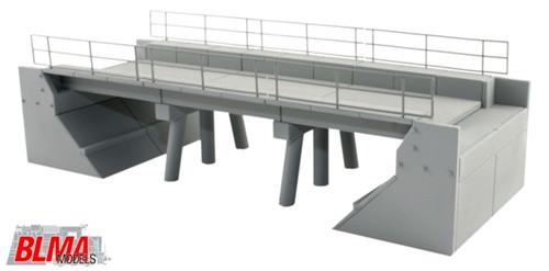BLMA N 590 Modern Concrete Segmental Bridge Kit, Set A (Ends and Segments)