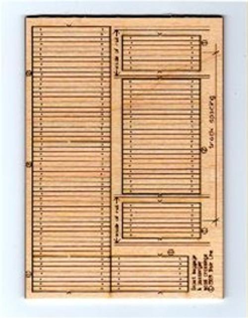 Blair Line HO 123 Laser-cut Wood Depot Baggage Cart and Pedestrian Crossings (3 sets)