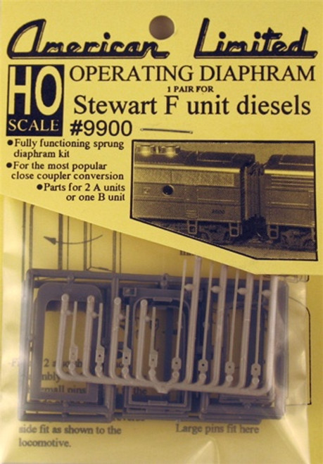 American Limited HO 9900 Operating Diaphragm for Stewart F unit diesels (parts for 2 A units or 1 B unit - gray)