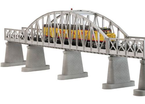 MTH RealTrax O 40-1101 Single Track Steel Arch Bridge, Silver
