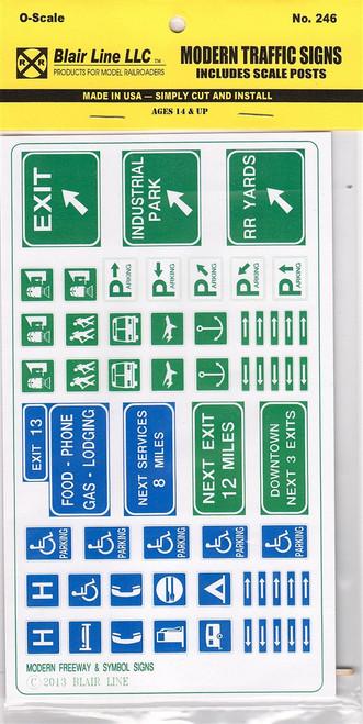 Blair Line O 246 Modern Traffic Signs
