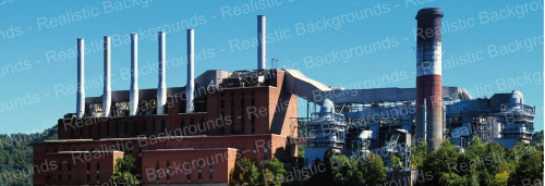 "Realistic Backgrounds 704-04 Power Plant Scene 13"" x 38"""