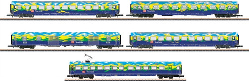 "Marklin Z 87303 DB AG ""Touristikzug"" Passenger Cars Set 2 (5-Car Set)"