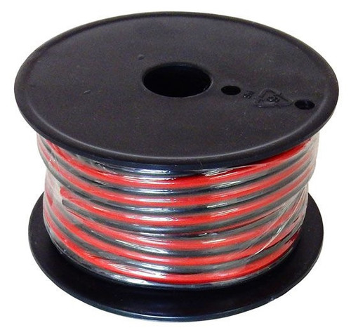 A.E. Corporation WRB-14-100 14 Gauge Stranded Wire Black and Red Conductors Zip Cord