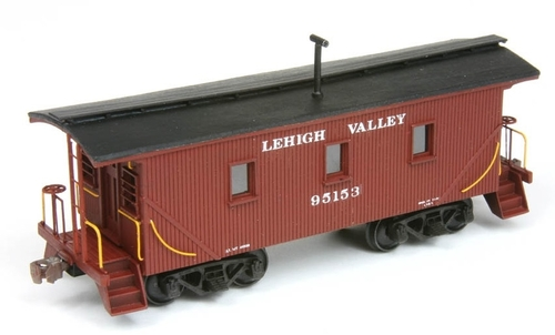 American Model Builders HO 874 Lehigh Valley Wood Transfer Caboose Kit