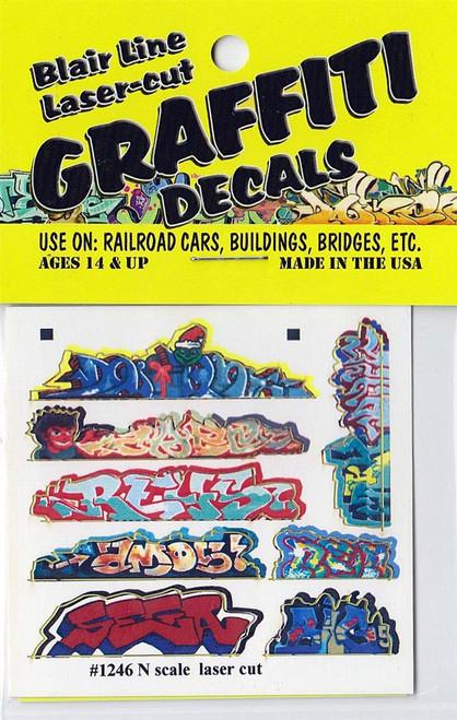 Blair Line N 1246 Graffiti Decals Mega Set #3