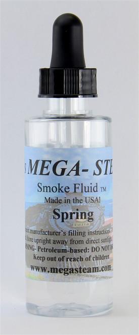 JT's Mega Steam O/HO SPRING Smoke Fluid 2 Oz. Bottle, Spring