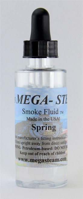JT's Mega Steam O/HO SPRING Smoke Fluid 2 Oz. Bottle, Spring