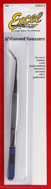 "Excel 30415 6"" Curved Point Tweezers"