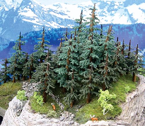 "Grand Central Gems T37 Medium Lodgepole Pine Trees, 5-7"" (5)"