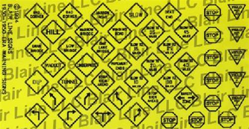 Blair Line N 043 Vintage Traffic Signs