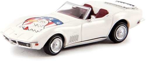 Brekina HO 19980 1967-1973 Chevrolet Corvette C3 Convertible with Top Down, American Eagle