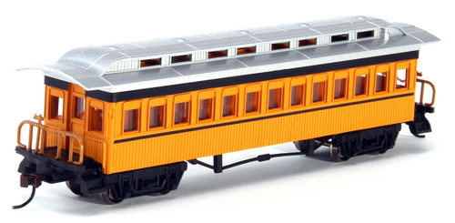 Bachmann Silver Series HO 13403 1860-1880 Coach, Unlettered (Yellow)