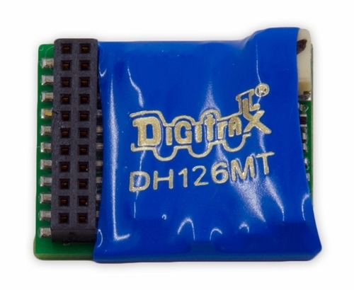 Digitrax HO DH126MT 1.5 Amp Mobile Decoder with 21MTC interface