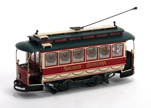 Bachmann Spectrum On30 25127 Closed Streetcar, Christmas