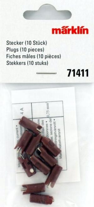 Marklin Z 71411 Brown Plugs (10-Pack)