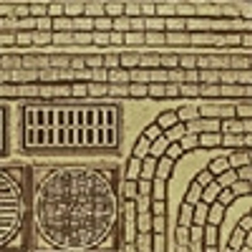 Chooch HO 8657 Flexible Medium Cobblestone Street Details