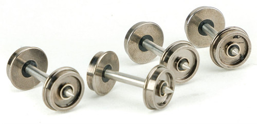 """Walthers Proto HO 920- 2305 36"""" Turned Metal Wheelsets With Metal Axles (Pack of 100)"""