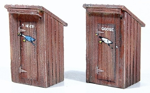 """Durango Press HOn3 120 D&RGW """"A Pause at Trout Lake"""" Outhouse and Accessories Kit"""
