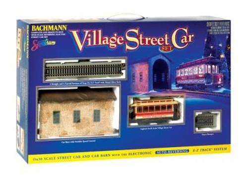 Bachmann On30 25017 Christmas Village Street Car Set