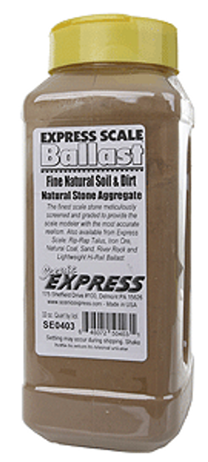 Scenic Express SE0403 Natural Soil and Dirt, Fine (32 oz.)