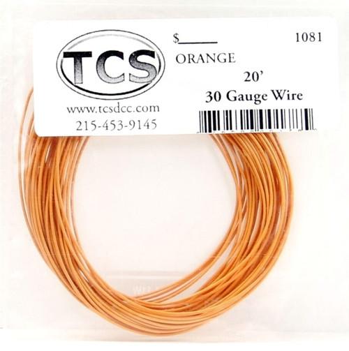 Train Control Systems 1081 30-Gauge Wire, 20' Roll (Orange)