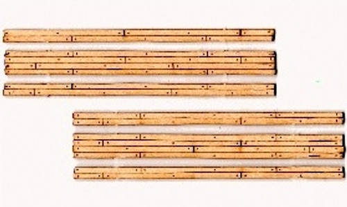 Blair Line HOn3 122 Laser-cut Two-Lane Narrow Gauge Wood Grade Crossing (2 sets)