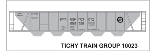 Tichy Train Group HO 10023 Pennsylvania Railroad Decal Set for H32 Covered Hopper Version 2