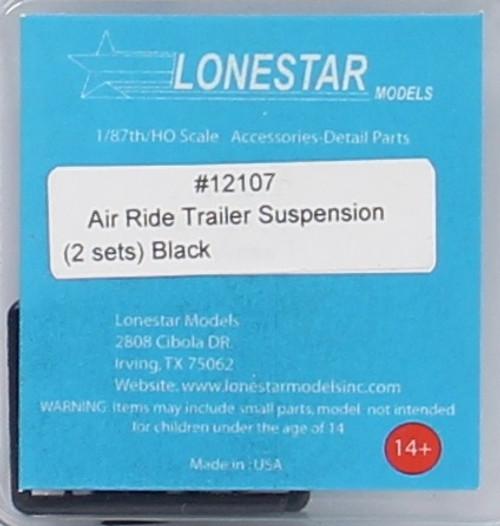 Lonestar Models HO 12107 Air Ride Trailer Suspensions, Black (2 Sets) (d)