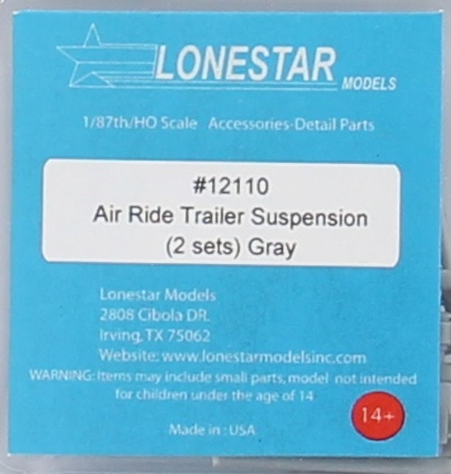 Lonestar Models HO 12110 Air-Ride Trailer Suspension, Gray (2 Sets)  (d)