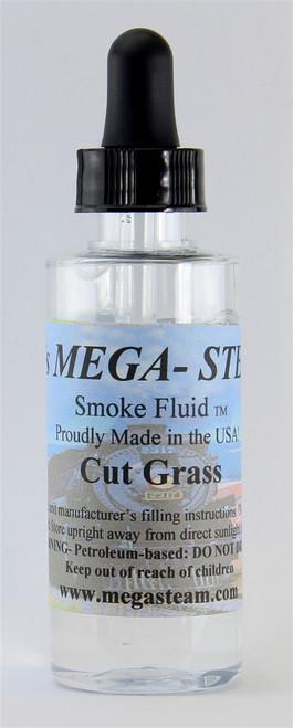 JT's Mega Steam O/HO CUTGRASS Smoke Fluid 2 Oz. Bottle, Cut Grass